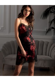 Nightie in silk and lace SOIREE LIBERTINE by Lise Charmel
