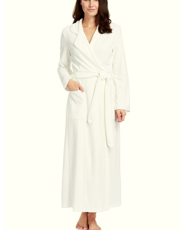 Elegant long dressing gown from the newcollection by Louis Féraud ...