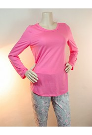 Printed pink cotton pajamas  by ROSCH Lingerie