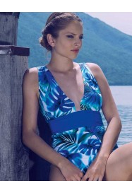 Blue one piece PETRA by Nicole Olivier