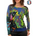 "Pull leger  ""SONGES VERTS"" d'Olivier Philips"