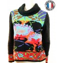 "Pull col boule  ""Multi-Chagal"" d'Olivier Philips"