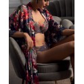 Robe in silk and lace REVE ORCHIDEE by Lise Charmel