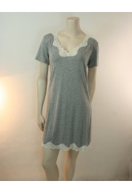 Short sleeves Grey nightgown SIMPLY PERFECT - Antigel