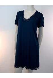 Navy blue short sleeves nightgown SIMPLY PERFECT - Antigel