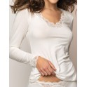 T-shirt manche longue NACRE SIMPLY PERFECT - Antigel