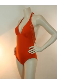 Orange One piece AJOURAGE COUTURE  by Lise Charmel beach department