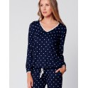 Navy blue pajamas BELLAGIO 102 by Le Chat lingerie