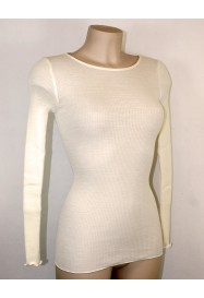 Ivory Top wool and silk  by LISANZA