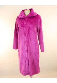 Fuschia Fleece dressing gown  by CANAT Lingerie