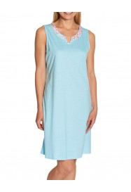 Sleeveless blue cotton nightgown  by ROSCH Lingerie