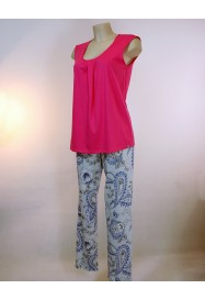 Bicolor cotton pajama by ROSCH Lingerie