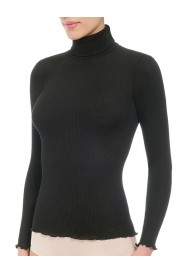 Black turtleneck Top by BARBARA
