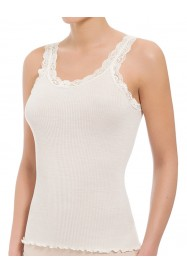 ivory sleeveless with lace Top by BARBARA