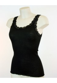 Black sleeveless with lace Top by BARBARA