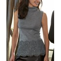 Fancy grey turtleneck Top by OSCALITO