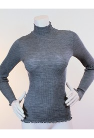 Grey turtleneck Top by OSCALITO