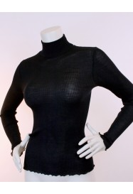 Black turtleneck Top by OSCALITO