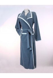 Long dressing gown in fleece by Louis Féraud