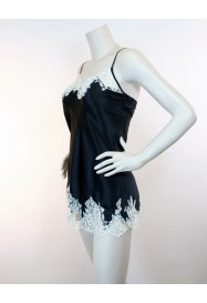 Short nightie in silk and lace SPLENDEUR SOIE