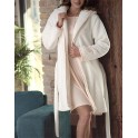 Ivory short dressinggown in fleece by BELMANETI