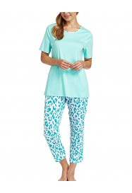 Emerald printed cotton pajama  by ROSCH Lingerie