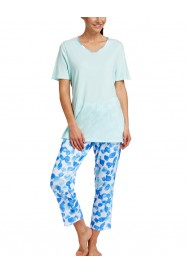 Blue Lagoon printed cotton pajama  by ROSCH Lingerie