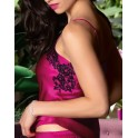 Fushia top in silk and lace SPLENDEUR SOIE