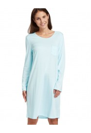 Aqua blue cotton nightgown  by ROESCH Lingerie