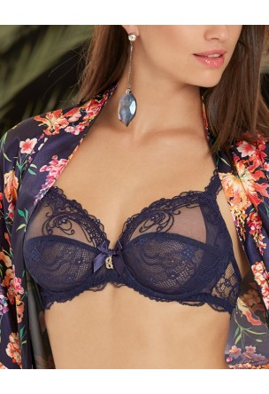 c7b81f9fd3 Navty Blue Full Cup bra SOIR DE VENISE by Lise Charmel. Click to enlarge