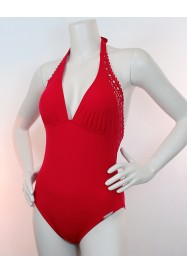 Red One piece AJOURAGE COUTURE   by Lise Charmel beach department