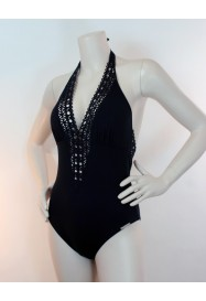 Black One piece AJOURAGE COUTURE  by Lise Charmel beach department