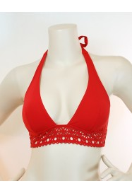 "Red foamed triangle bra - ""Ajourage Couture""  by Lise Charmel"