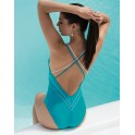 Turquoise One piece DISTINCTION NAUTIQUE  by Lise Charmel beach department