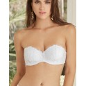 White bandeau bra ACANTHE ARTY by Lise Charmel