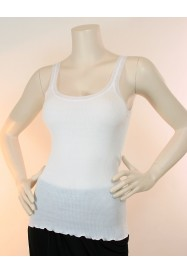 White sleeveless cottonTop by FRALY