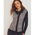 Black Jacket Wool & Silk  by OSCALITO