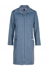Blue gray fleece dressing gown  by LE CHAT Lingerie