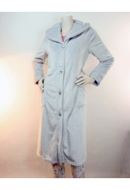 Gray Fleece dressing gown  by LE CHAT Lingerie