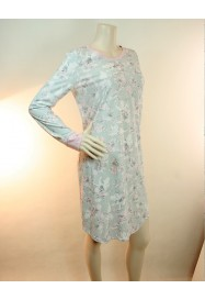 Grey & pink cotton Nightgown  by ROSCH Lingerie