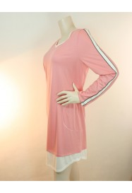 Pink cotton & modal nightgown  by ROSCH Lingerie