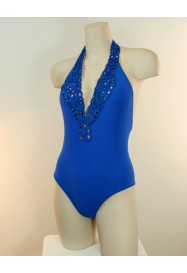 Blue One piece CHAMOIS  by NICOLE OLIVIER