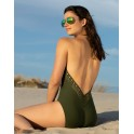 One piece AJOURAGE COUTURE khaki  by Lise Charmel beach department